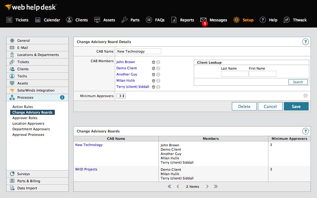 SolarWinds Web Help Desk ПО