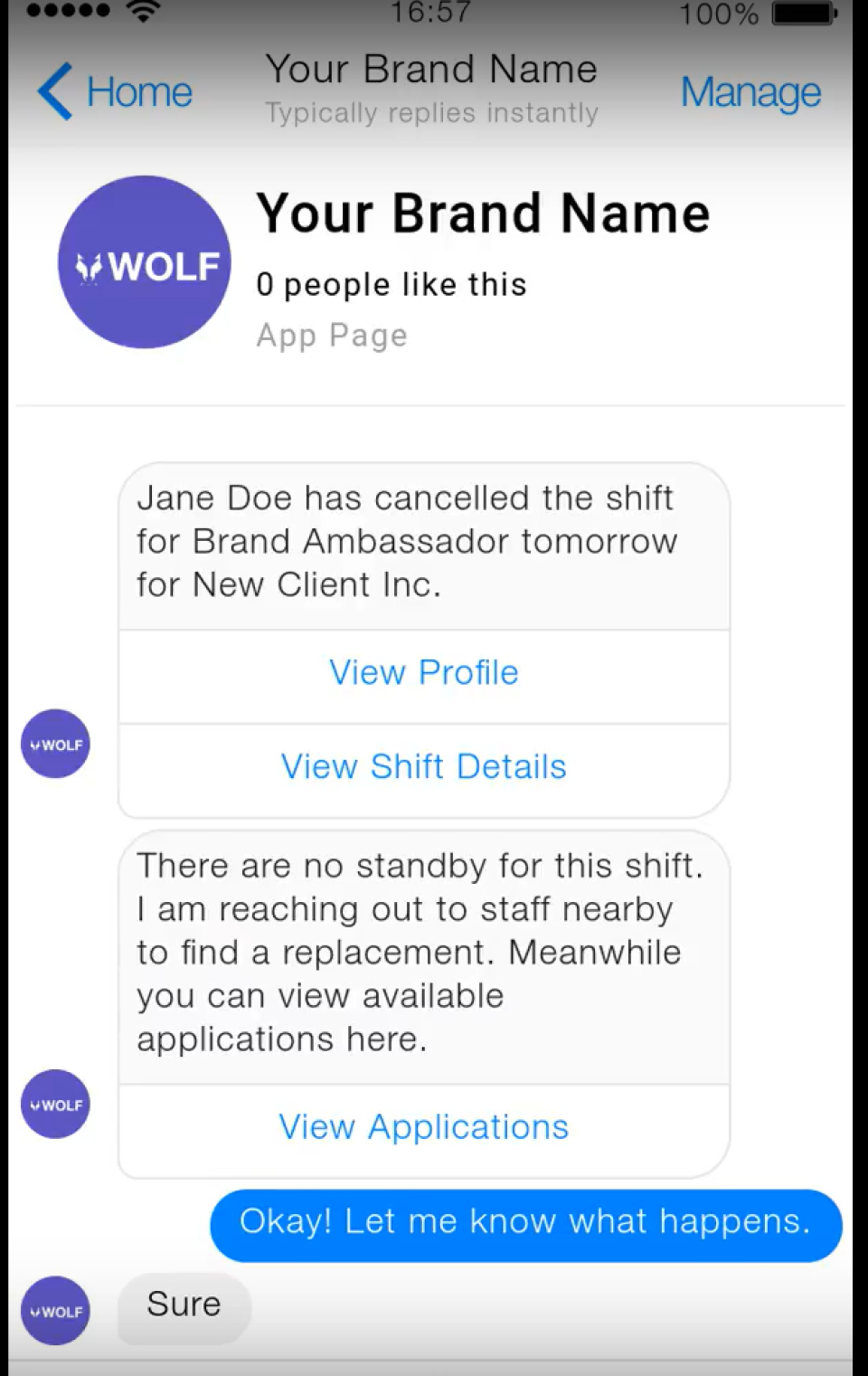 Wolf характеристики