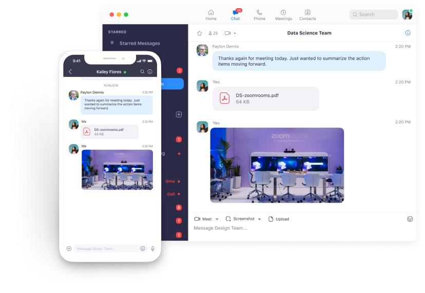 Zoom Meetings & Chat характеристики