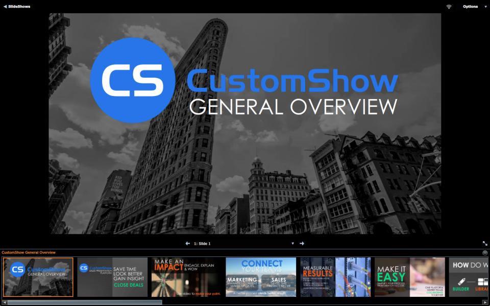 CustomShow характеристики