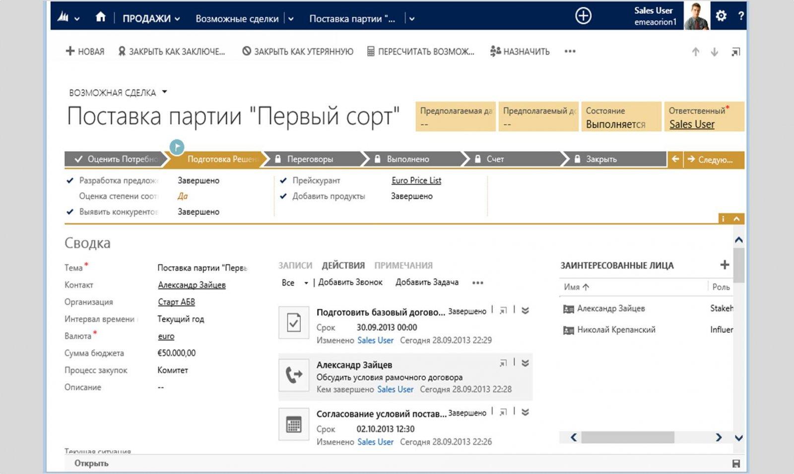 Microsoft Dynamic CRM ПО