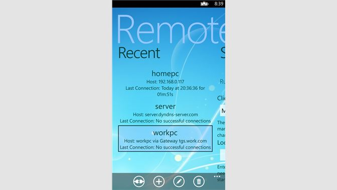 Microsoft Remote Desktop характеристики