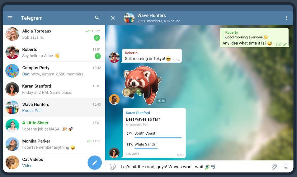 Telegram программа