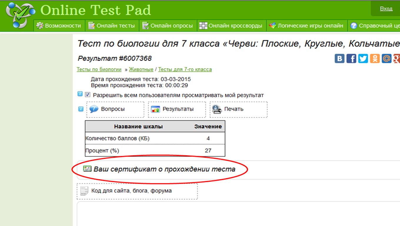 Online Test Pad характеристики