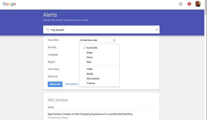 Google Alerts программа